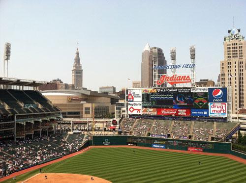 Cleveland Skyline From Inside The Park