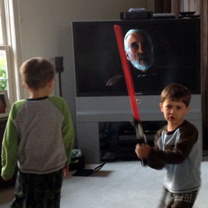 The Boys Watching Attack Of The Clones