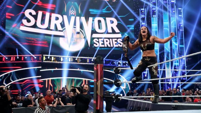 Shayna Baszler, Becky Lynch and Bayley - Survivor Series 2019