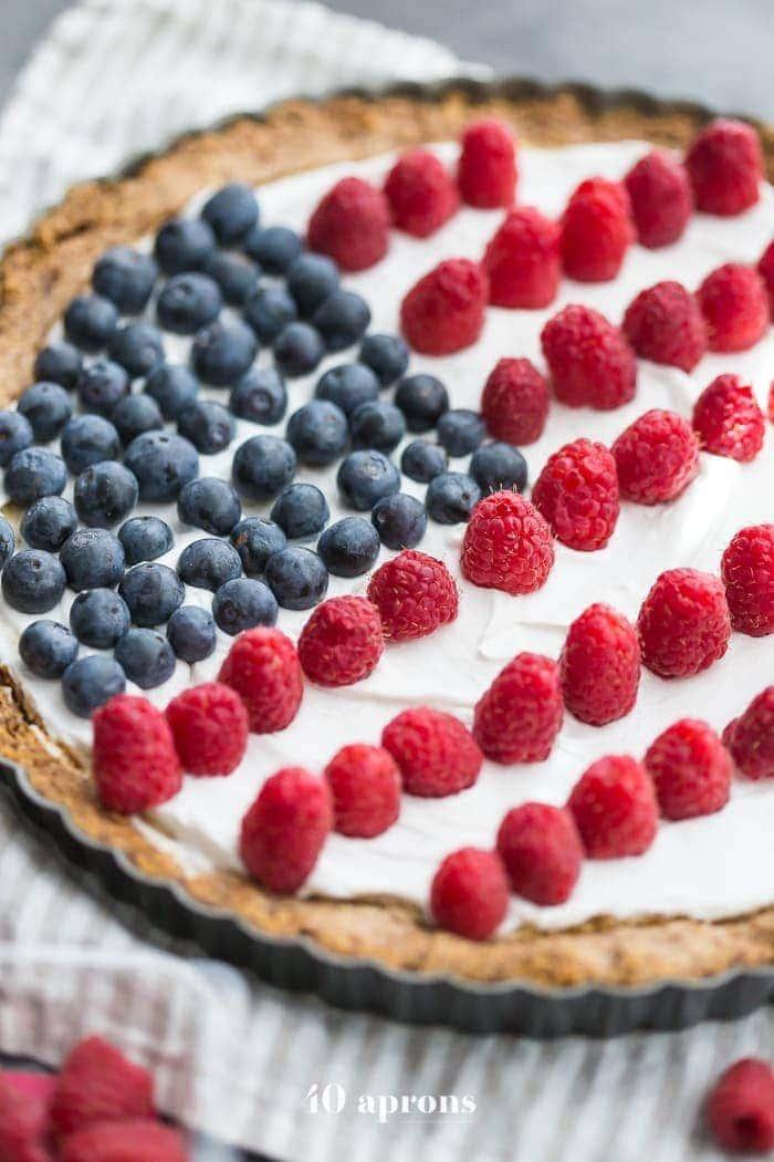 american flag tart vegan paleo