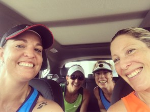 The girls on the way back from Vaal after a stupid o'clock start!