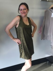 Mariah in Tawny Sleevless Dress