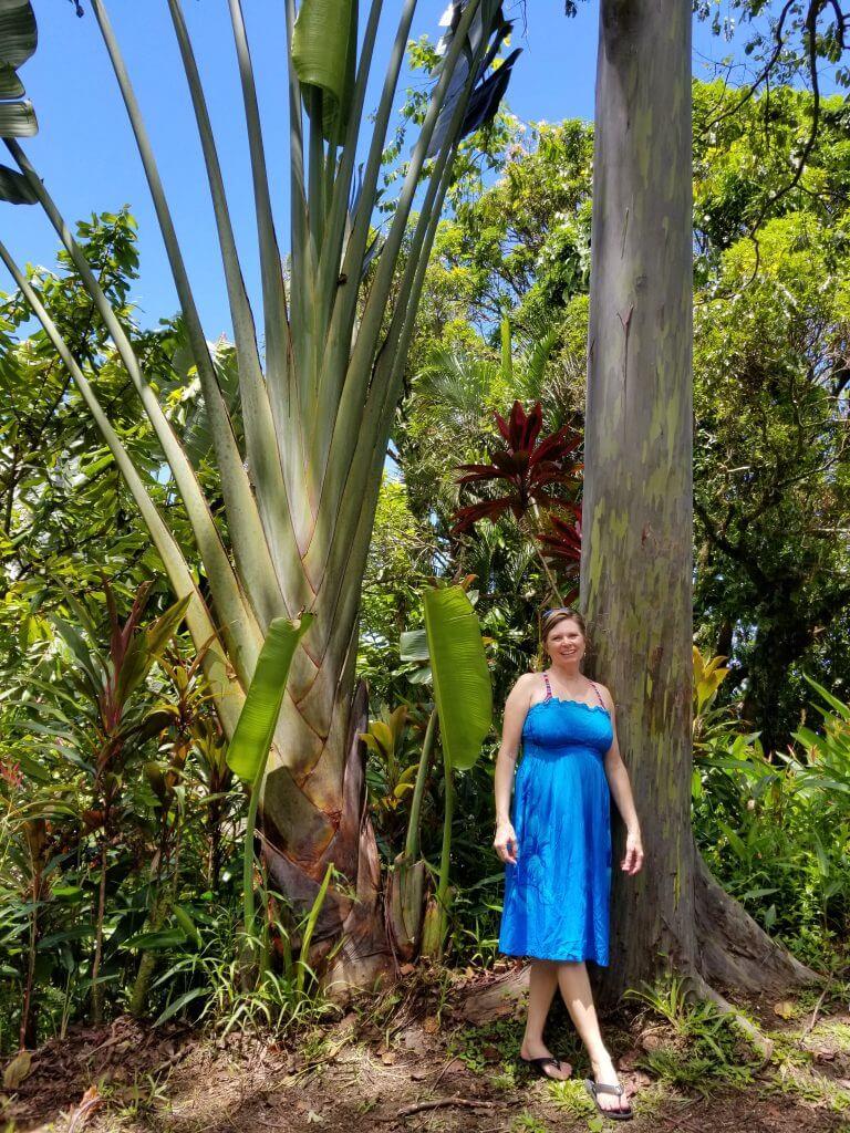Kim Julen in Blue Dress Maui