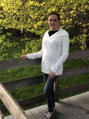 Mariah Mihm wearing sweater