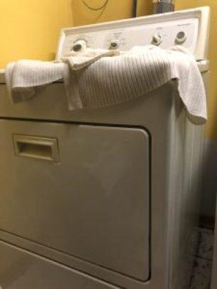Mariah's Sweater on Dryer