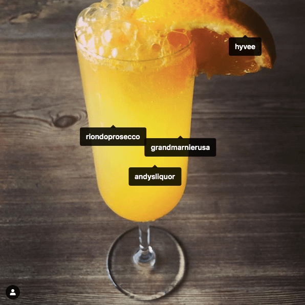 Mimosa with Tags