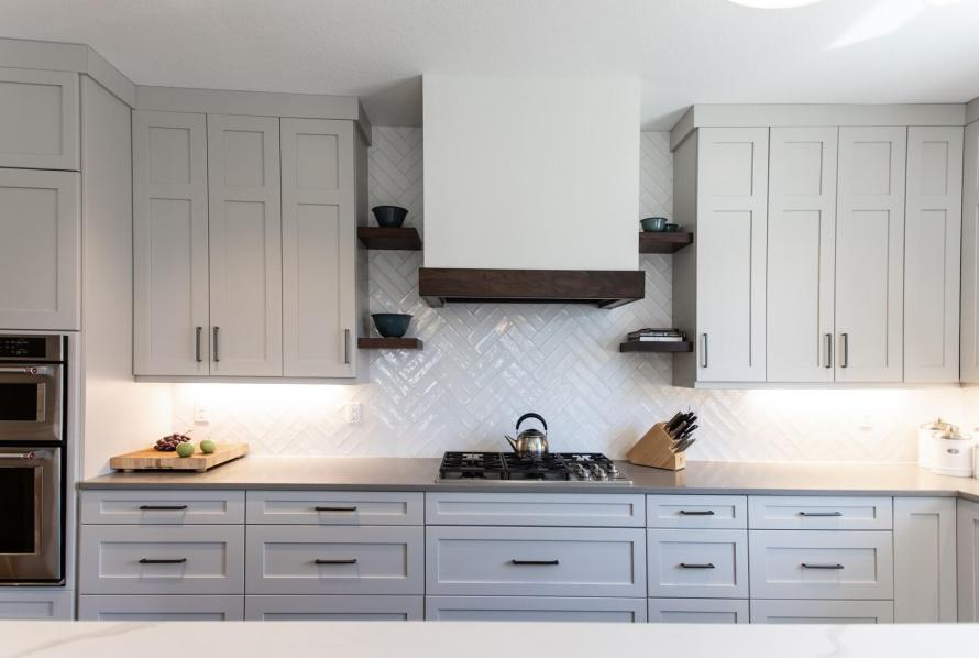 Kitchen Cabinets, Backsplash and Counter by J. Curry Interiors