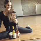 Annie Nimmo Ready to Share Wine with her Ballet and Wine Students