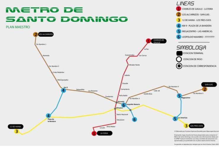Mapa Metro Santo Domingo