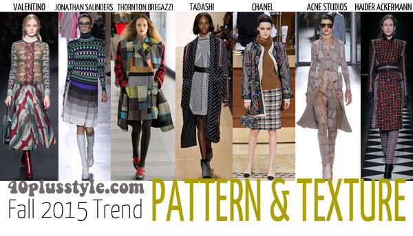 The best trends for fall 2015 for women over 40 - Pattern | 40plusstyle.com