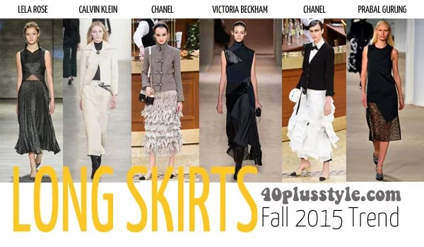 The best trends for fall 2015 for women over 40 - skirt | 40plusstyle.com