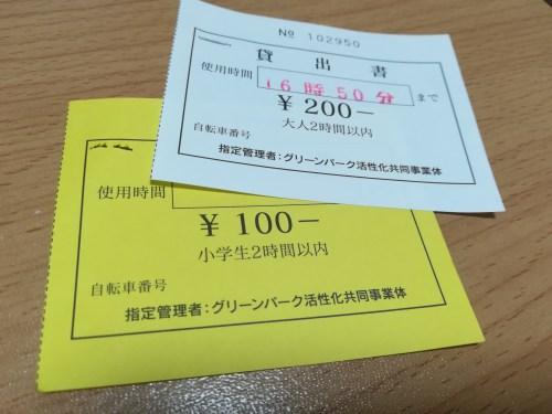 福岡 北九州 グリーンパーク サイクリング 値段