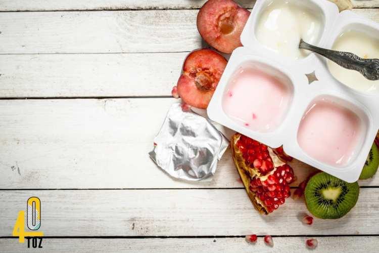 Fruchtjoghurt mit wenig oder ohne Zucker