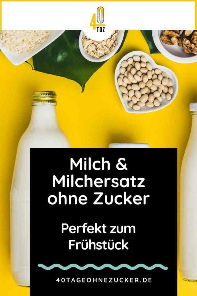 Milch und Milchersatz ohne Zucker