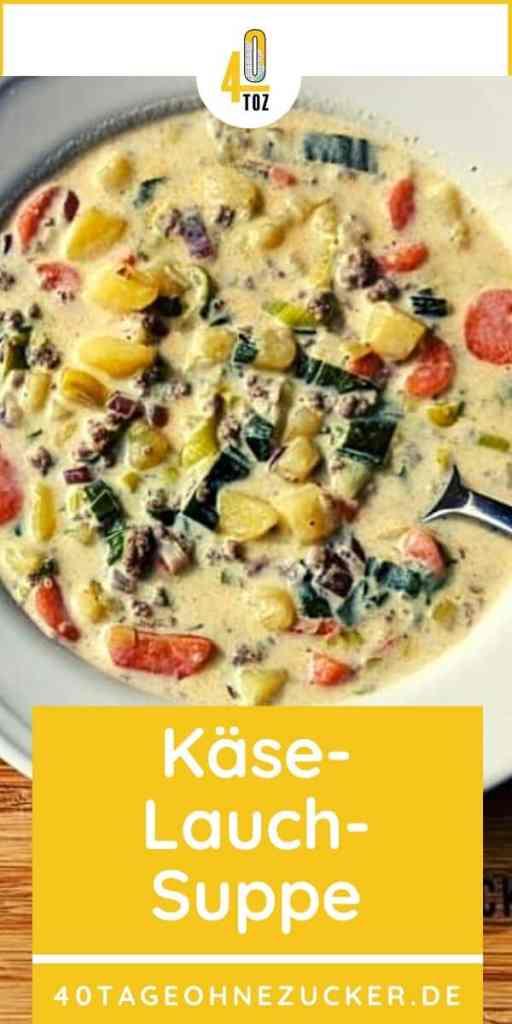 Rezept für eine Käse-Lauch-Suppe