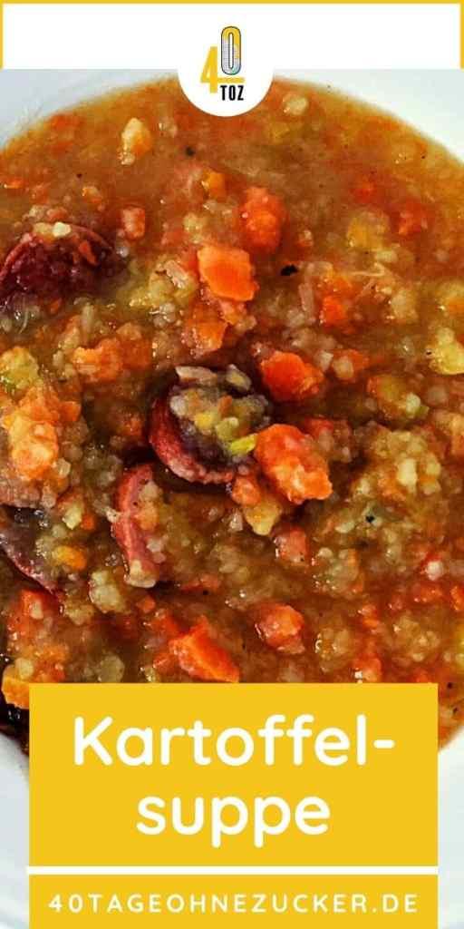 Rezept für Kartoffelsuppe mit Würstchen