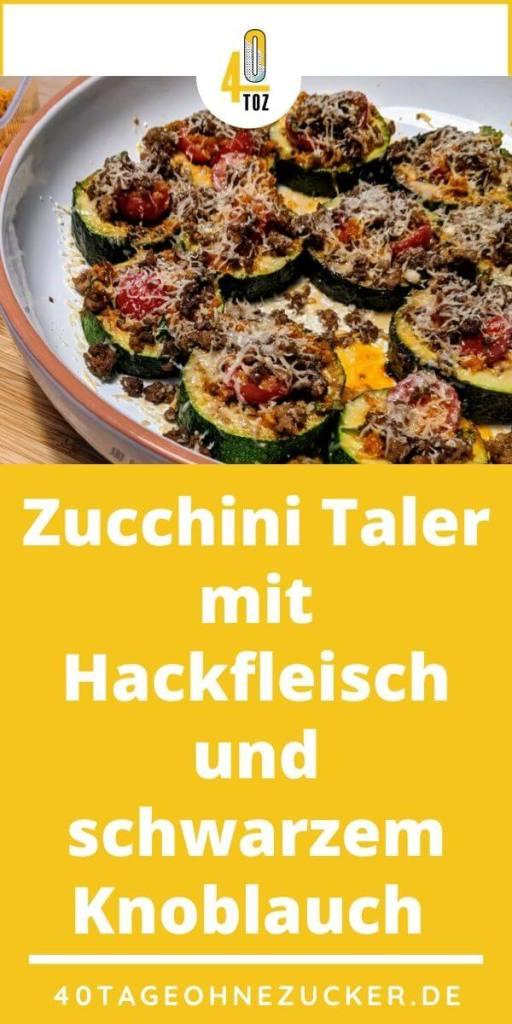 Rezept für Zucchini Taler mit Hackfleisch und Knoblauch
