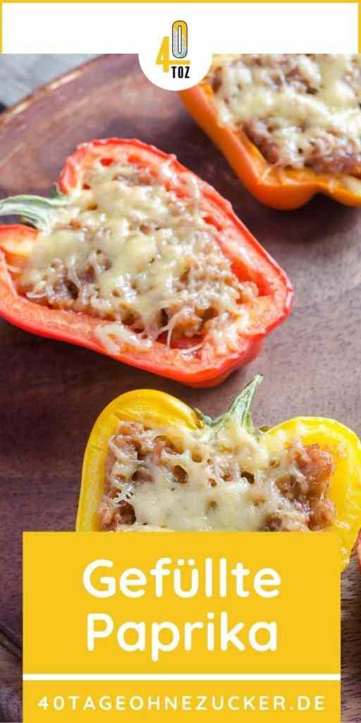 Rezept für gefüllte Paprika mit Hackfleisch