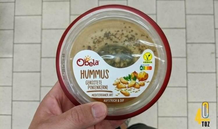 Hummus geröstete Pinienkerne von Obela