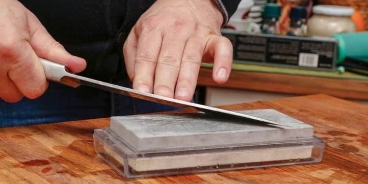 Schleifstein zum Messer schärfen