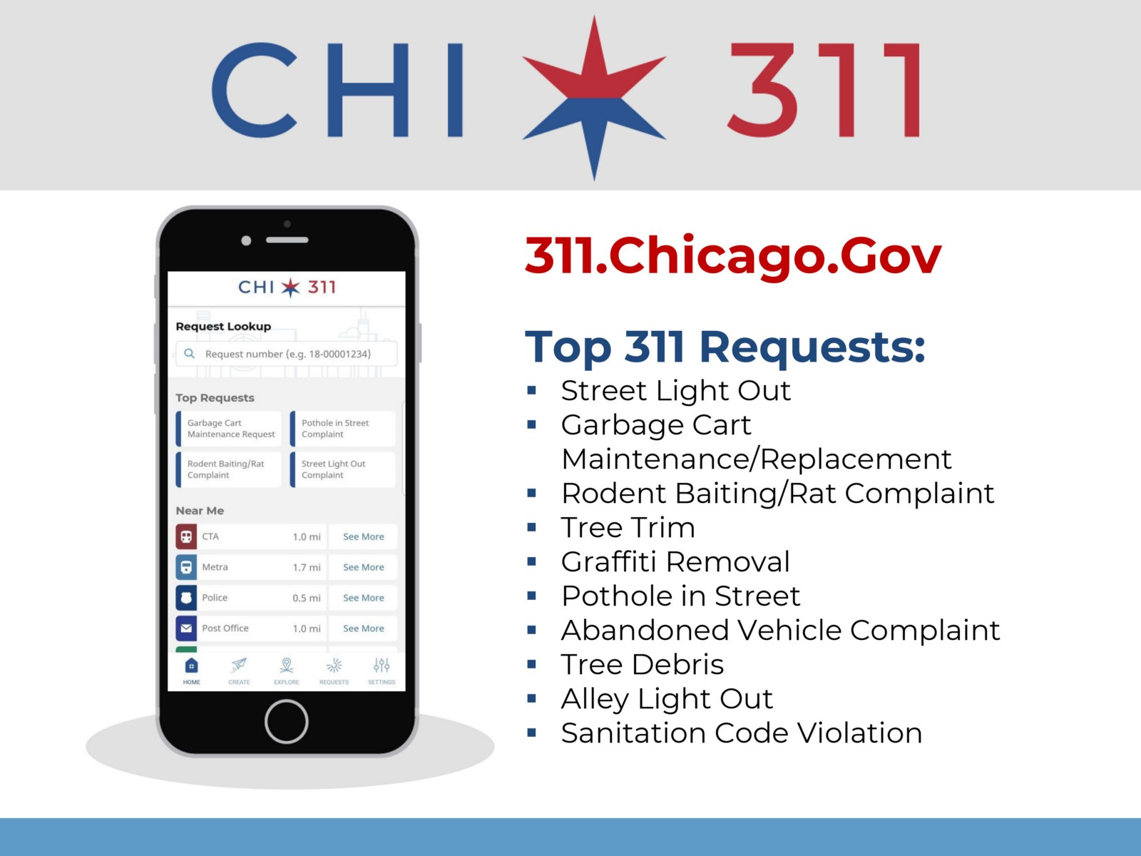 Chicago 311 Top Requests