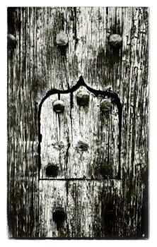 Door Peephole, B&W