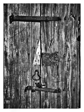 Patchwork Door, B&W