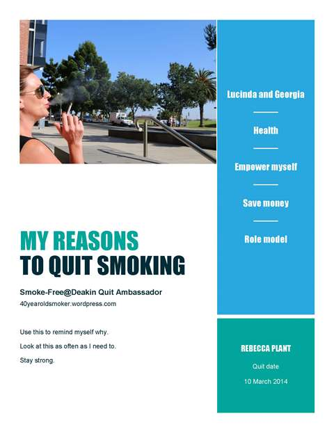 Preparing to quit #smokefree