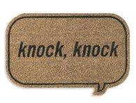 knock-knock door mat