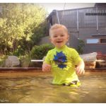 Smiley boy in the hot springs