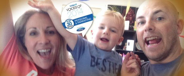 Mumma, Indy and Daddy Celebrate Top 30 Announcement