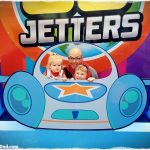 Family on board the Go Jetters Vroomster
