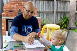 Colouring with dad