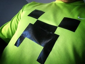 minecraft party gaffer tape costume