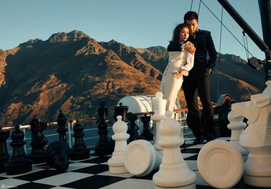 Nicky Wu and Liu Shishi wedding photo