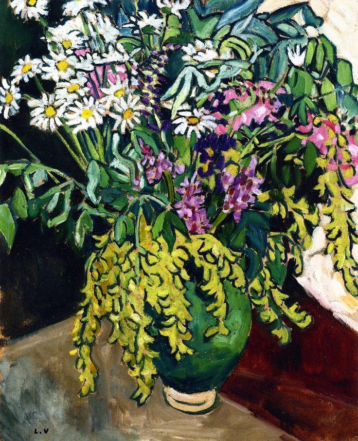 bofransson:Wild Flowers in a Green Vase Louis Valtat - 1917
