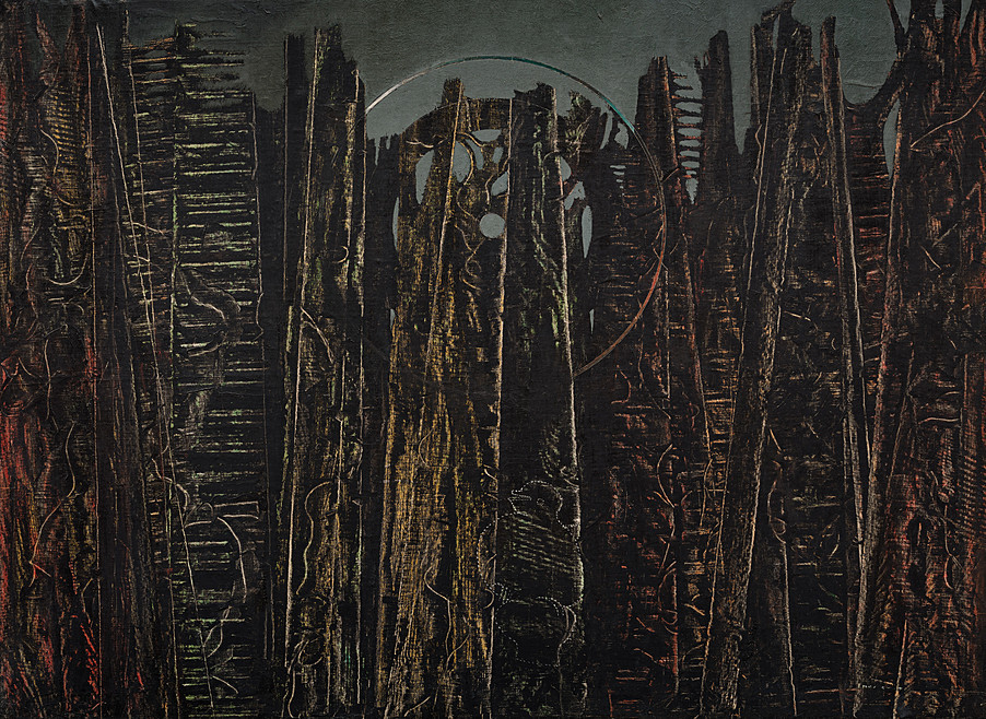 thunderstruck9:  Max Ernst (German/French, 1891-1976), La forêt [The Forest], 1927-28. Oil on canvas, 96.3 x 129.5 cm. via1910-again