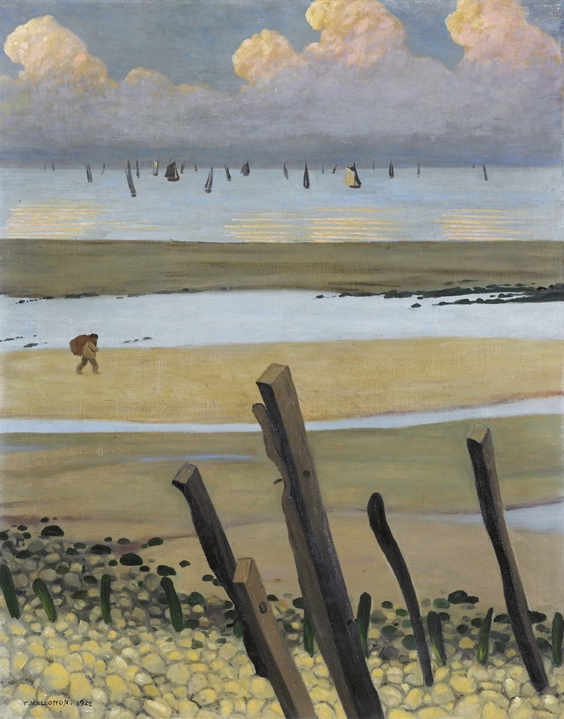 thunderstruck9:  Félix Vallotton (Swiss, 1865-1925), Marée basse à Villerville [Low tide at Villerville], 1922. Oil on canvas, 91.5 x 73.5 cm.
