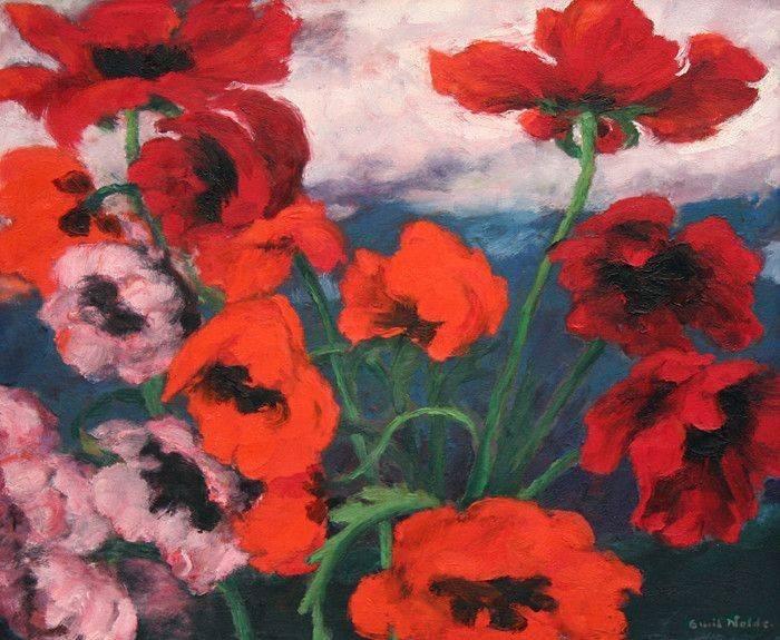nobrashfestivity: Emil Nolde, Large Poppies, 1942, oil on canvas