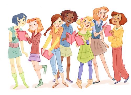 Club de lectura juvenil (ilustración de Aurelie Blard-Quintard)