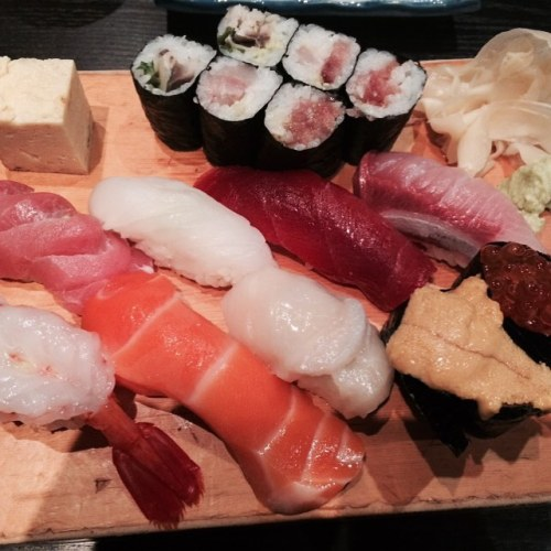 Using my dad's birthday as an excuse to splurge on some of the best sushi I've had in a long time! (at Mitch's Sushi Bar)