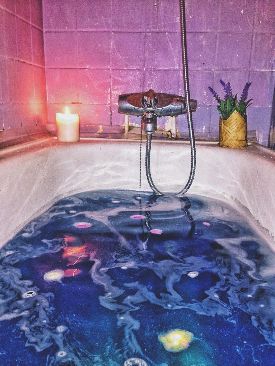 Love Galaxy Stars Water Blue Pink Purple Calm Bathroom