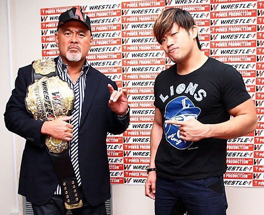 "[WRESTLE-1 News] W-1 announced that the next WRESTLE-1 Championship match will be taking place on December 22nd as the new champion Keiji Mutoh will be taking on Seiya Sanada.Just a few days after Mutoh defeated Masayuki Kono to become the 2nd generation champion, his first defense will be against one his current top protege's in Seiya Sanada. This is the first time in 6 years that Mutoh has laid claim to a singles belt, last being NJPW's IWGP Heavyweight belt in 2008. A theme has now been placed upon the belt as the veteran Mutoh sets off against the young stars of W-1, the first of which being against Sanada. Mutoh himself stated that he has chosen Sanada to be his first opponent. Mutoh stated that he never thought he would be champion once more in his 50's, but he is confident that he still has the heart and will to defend the belt. Mutoh stated that the young talent need to rise now more than ever. There is a high wall for all of them to climb, but he himself wants to put a test on all of them now. He also noted that his birthday will be the next day following the championship match and he aims to remain champion for his 52nd birthday.Sanada stated that there is more weight now than ever for himself to finally overcome Mutoh and he aims to fulfill another of his dreams by claiming a major singles belt in Japan.He noted that he is still a bit bitter for losing to Mutoh back on 7/7 of this year at the Ryogoku, but the dawn of a new era is on the horizon. Sanada has vowed that he will finally overcome Mutoh and begin the true first steps for the young talent in W-1 to find their own place. WRESTLE-1 ""GAORA presents WRESTLE-1 Tour 2014 Final"", 12/22/2014 [Mon] 18:30 @ Korakuen Hall in Tokyo(-) WRESTLE-1 Championship Match: [2nd Champion] Keiji Mutoh vs. [Challenger] Seiya Sanada~ 1st title defense."