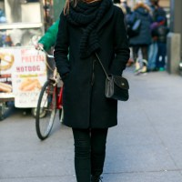 scarf x trench coat x jeans
