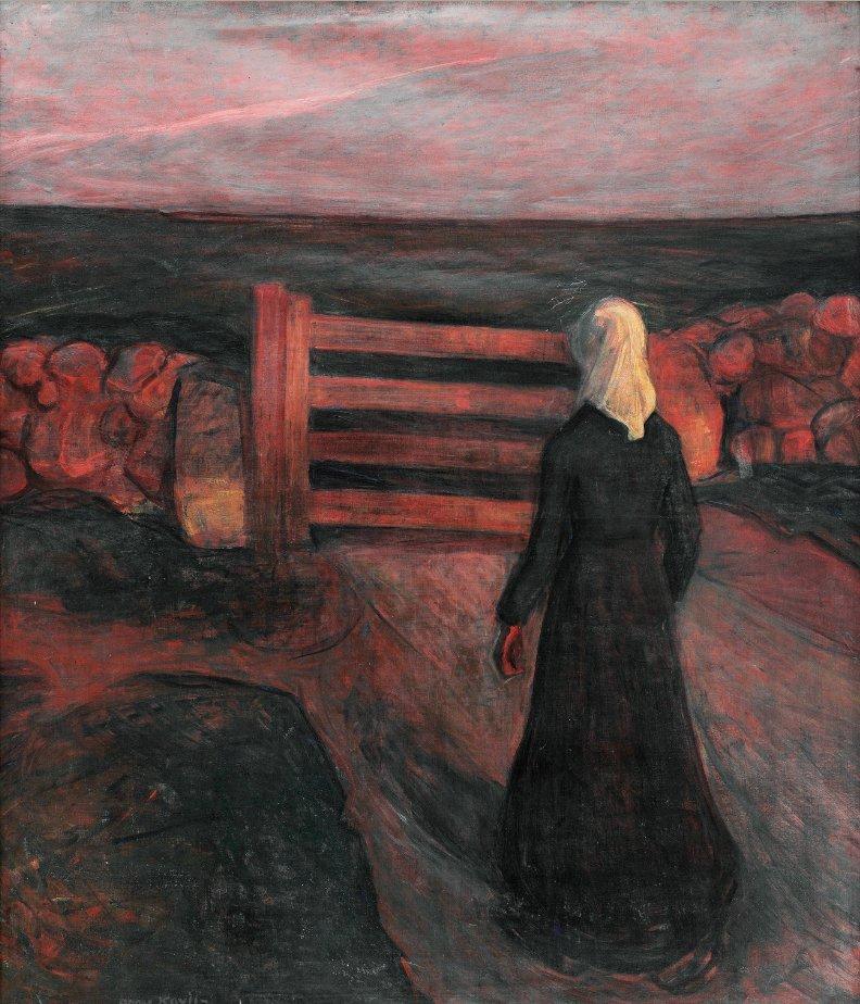 peira: Arne Kavli (1878-1970): Kvinne ved Grind (not dated)