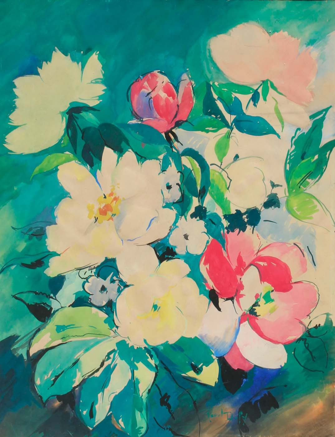 amare-habeo: Raoul Dufy (French, 1877-1953) Flowers, N/D Gouache on paper