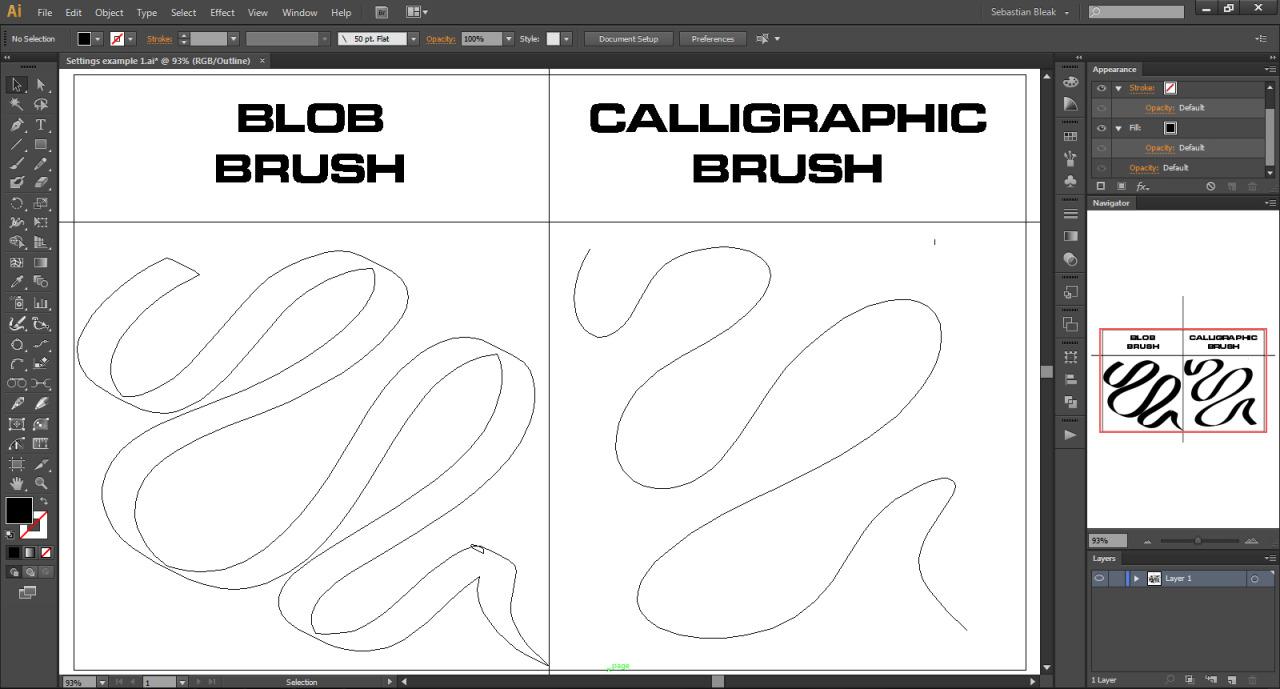 Adobe Illustrator Outline Mode