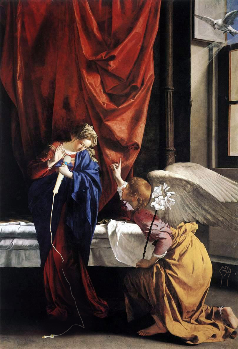 Annunciation with Magic Wand by Orazio Gentileschi.