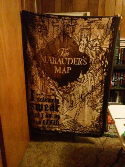 The Marauder's Map Blanket