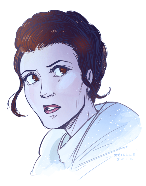 I have a late-in-life obsession with Princess Leia. :X